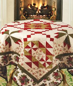 """""""Roses and Cream"""" by Marianne Elizabeth (from The Quilter Magazine Holiday 2013 issue)"""