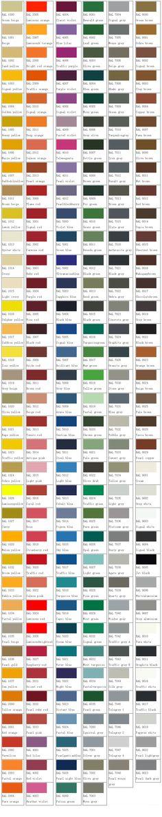 vzorník barev RAL, Urbania ... mobiliář pro život