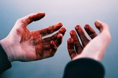 She still had blood on her hands from the night he had died