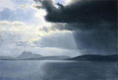 Albert Bierstadt - Approaching Thunderstorm on the Hudson River