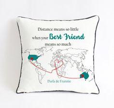 Long Distance Best Friend Pillow Gift For Custom Birthday