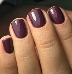 Nail Color 50 Most Sexy Dark Nails Design You Should Try in Fall and Winter 2018 - Nail des. 50 Most Sexy Dark Nails Design You Should Try in Fall and Winter 2018 - Nail design 16 Plum Nails, Dark Nails, Plum Nail Polish, Dark Color Nails, Long Nails, Short Nails Shellac, Dark Purple Nails, Gel Nail Polish Colors, Deep Purple