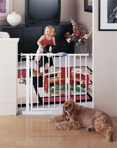 Kidsafe Home Safety North States Auto Close Baby Pet Gate White 94 95