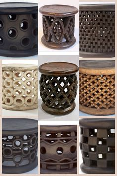 MIXFURNITURE.COM - Bamileke stools is the king's seat in the Bamileke tribes of Cameroon. Each stool is carved from a single Cola wood tree trunk, hence the variety of designs and sizes. ART AND IDEASMore At FOSTERGINGER @ Pinterest