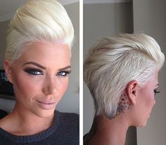platinum blond short hairstyle for girls