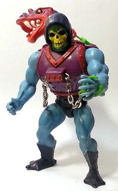 Skeletor con Drago Spruzza-veleno (Dragon Blaster Skeletor), arrivato in Italia nel 1986 #Miniatures #Figures #Motu #Mattel #MastersOfTheUniverse #Skeletor