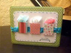 Just a little something.. shopping bag card <3