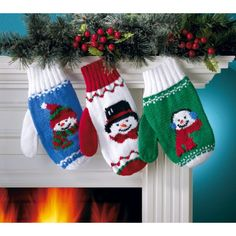 Knitting Pattern For Snowman Mittens : 1000+ images about mittens on Pinterest Mittens pattern, Ravelry and Patter...