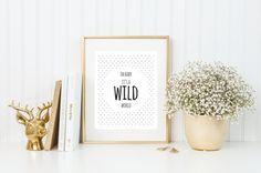 Oh es ist eine wilde Welt Baby   8 x 10   Zitat von Print   Songtext