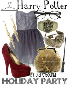 HP: Harry Potter (Holiday Party) inspired outfit by Disneybound at:  http://disneybound.tumblr.com/