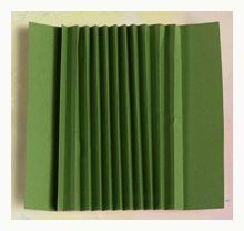"""Easy Book Binding: Fold the cardstock accordion style, 1/2"""" increments and crease the folds with a bone folder. You will now be able to glue your pages in the valleys of the accordion spine."""