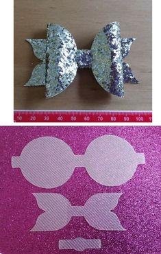 This bow Diy Hair Bows, Diy Bow, Baby Bows, Baby Headbands, Diy Headband, Felt Flowers, Fabric Flowers, Bow Template, Bow Pattern