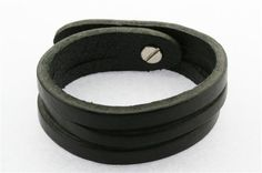 2 cut leather cuff - black Leather Cuffs, Leather Bag, Leather Accessories, Cufflinks, Leather Bag Men, Leather Bags, Leather Products