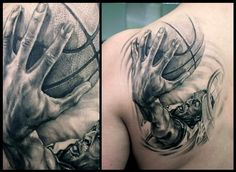 Tattoo by Przemysław Aero Walkowiak - Will you be watching the Miami Heat & Oklahoma City Thunder game tonight?