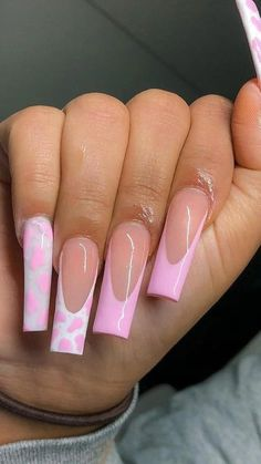 Light Pink Acrylic Nails, French Tip Acrylic Nails, Short Square Acrylic Nails, Bling Acrylic Nails, Acrylic Nails Coffin Short, Best Acrylic Nails, French Nails, Pink Tip Nails, Dope Nails