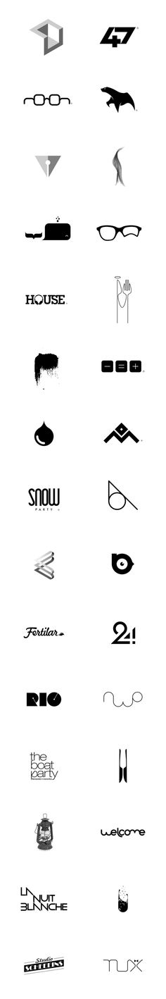 Logo Collection 2013 by Dinard da Mata, via Behance