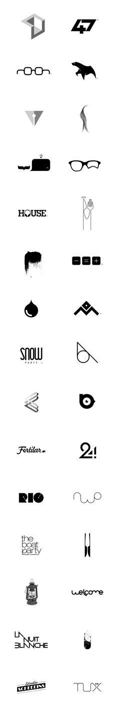 Logo Collection 2013 by Dinard da Mata, via Behance
