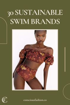 Here are 30 of our favorite sustainable swimwear brands you can browse through as you daydream about your upcoming summer days hanging by the beach or diving in to your favorite water sport. #ecofriendlyswimwear #sustainablefashion Ethical Fashion, Slow Fashion, Fashion Brands, Swimwear Guide, Swimwear Brands, Beach Weather, Ethical Shopping, Fashion Capsule, Eco Friendly Fashion