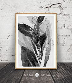 Black and White Botanical Print, Abstract Plant Wall Art, Nature Decor, Modern Minimal, Printable Art, Instant Download, Large Art Poster by LILAxLOLA on Etsy https://www.etsy.com/se-en/listing/269422086/black-and-white-botanical-print-abstract