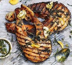 Balık+Sarımsak+Taze Kekik+Pesto Sos+Limon