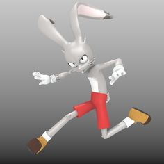 RoyRabbit - Cartoon Animal Character. This royalty free 3D model or texture is available for download now! RoyRabbit is a character designed previousli ...