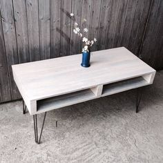 pallet coffee table with hair pin legs by iamia | notonthehighstreet.com                                                                                                                                                     More #pallettable