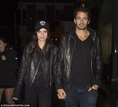 Matching looks: Victoria's Secret Angel Sara Sampaio held hands with her new British boyfriend Oliver Ripley after partying at Tape nightclub in London on Wednesday night