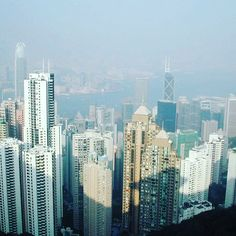 Hong Kong view  THE Peak #hkliving #hongkong #asian #thepeak