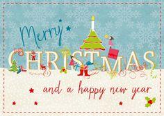 Merry Christmas & A Happy New Year | Frohe Weihnachten | Echte Postkarten…
