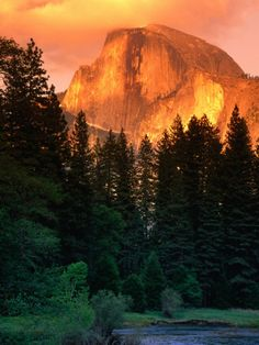 Half Dome in Sunset