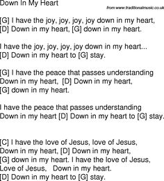 I have the joy, joy, joy, joy, down in my heart ~ We sang this in Bible School when I was a little girl ~ Ukulele Worship Songs, Easy Ukelele Songs, Guitar Chords For Songs, Music Chords, Piano Music, Worship Chords, Ukulele Tabs, Music Lyrics, Sheet Music