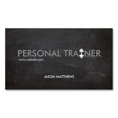 Rustic Personal Trainer Dumbbell Logo Fitness Business Card. Great card for trainers, gym owners, fitness instructors and more. Fully customizable and ready to order. customizable business cards | cheap business cards | cool business cards | Business card