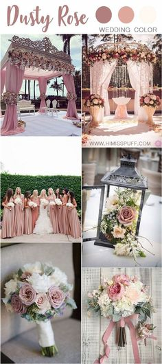 Trendy Dusty Rose Wedding Color Ideas - dusty pink wedding color ideas You - Dusty Pink Weddings, Dusty Rose Wedding, Wedding Flowers, Vintage Weddings, Rose Wedding Centerpieces, Wedding Favors, Wedding Bouquets, Wedding Ceremony, Dusty Pink Bridesmaid Dresses