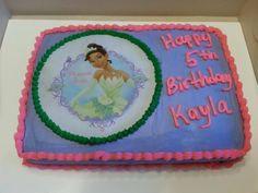 Princess Tiana edible image cake