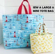 FREE TUTORIAL Sew the Perfect Large and Mini Tote Bags