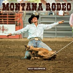 2015 Montana Rodeo Wall Calendar. Feel the danger, drama, and thrill of the rodeo all year long. Striking color images by Hamilton, Montana, photographer Bill Jarvis bring Montana rodeos to life. Date grid for noting appointments; also includes holidays of major religions, U.S. and Canadian civil holidays, phases of the moon, and sunrise and sunset times.