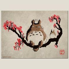 drawing totoro, Miyazaki poster, t-shirt, parody, shop rnrnSource by Studio Ghibli Films, Art Studio Ghibli, Studio Ghibli Tattoo, Hayao Miyazaki, Anime Plus, Manga Anime, Anime Art, Day Of The Shirt, Girls Anime