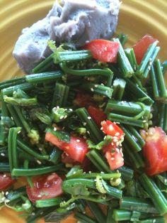hawaiian-asparagus http://saturdayswithmaggy.blogspot.com/2013/06/hawaiian-asparagus.html