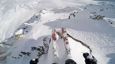 Mickael Bimboes drops in on a sketchy line in Courchevel, France.