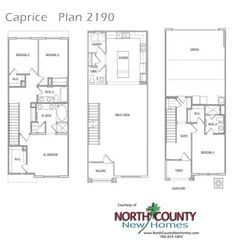 New townhomes in San Marcos at Caprice. Floor Plan 2190 2,190 Square Feet 3 Story 4 Bedroom 3.5 Bathrooms 2 Car Garage
