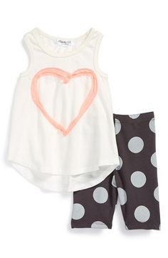 Joah Love High/Low Tank & Capri Leggings (Baby Girls) available at #Nordstrom