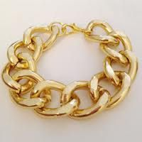 Chunky Gold Link Bracelet by AriasAccessories on Etsy, $12.00