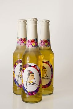 Photo by Linda Diego Rivera, Packaging Design, Branding Design, Label Design, Frida And Diego, Bottle Packaging, Bottle Labels, Beer Bottle, In Vino Veritas
