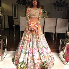 Modern Flowery Lehenga | Beautiful Prints | Perfect for Spring/Summer | By NomianSaree