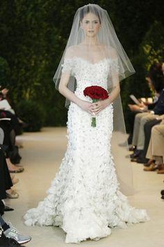 Vera Wang Off the Shoulder Wedding Dress
