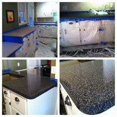 My Refurbished Countertops Using The Rust Oleum Countertop Transformation!  I Love It!