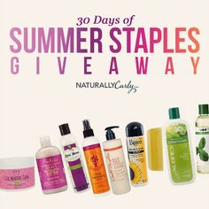 I just entered NaturallyCurly's 30 days of Giveaways  to win some amazing curly hair prizes on NaturallyCurly.com! You should enter too. It's easy, click here: http://www.naturallycurly.com/giveaways/NaturallyCurly-June-2015-Giveaway/st/556f241cc49c17.14973241