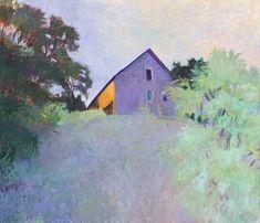 Wolf Kahn - Barn Atop a Ridge, 1987