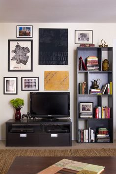 Black poster, decor to floor