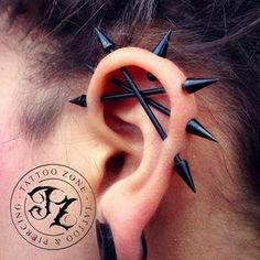I love these piercings. I currently have a single industrial piercing and I would love to get at least a double or maybe even a triple like the picture and I definitely want to get at least one normal cartilage piercing.
